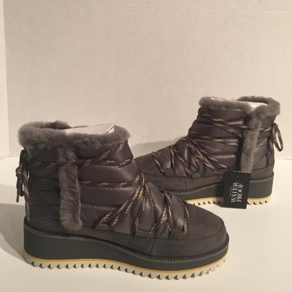 b542ea2320a Ugg Cayden Charcoal Waterproof Suede Nylon Boot NWT